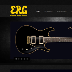 אתר אינטרנט  ERG Custom Guitars